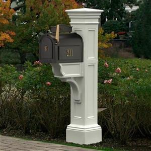 Mayne Estate Liberty 2.5-ft White In Ground Mailbox Post