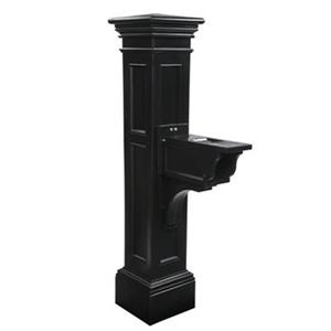 Mayne Estate Liberty 2.5-ft Black In Ground Mailbox Post