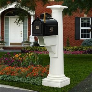 Mayne Estate Statesville 2.75-in Beige In Ground Mailbox Post