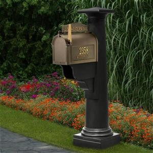 Mayne Estate Statesville 2.75-in Black In Ground Mailbox Post