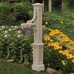 Mayne Woodhaven Address Sign Post - Clay