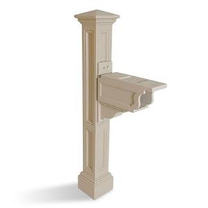 Mayne Charleston 2-ft Beige In Ground Mailbox Post