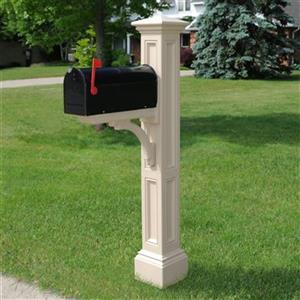 Mayne Charleston 2-ft Beige In Ground Mailbox Post