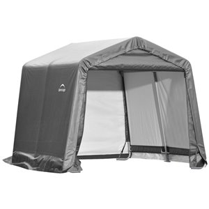 ShelterLogic Shed-in-a-Box 10-ft x 10-ft Grey Portable Shed