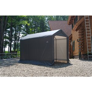 ShelterLogic Shed-in-a-Box 6-ft x 10-ft Blue Portable Shed