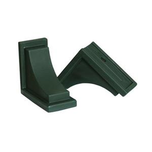 Mayne 8-in Nantucket Decorative Supports 2-Pack - Green