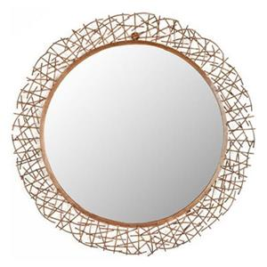 Safavieh 28.3-in Copper Twig Wall Mirror