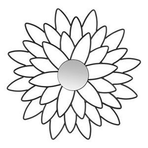 Safavieh 24-in Black Chrysanthemum Wall Mirror