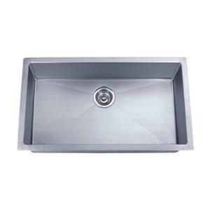 Acri-tec Industries 30-in x 18-in Stainless Steel Under-Mount Small Radius Corner Kitchen Sink