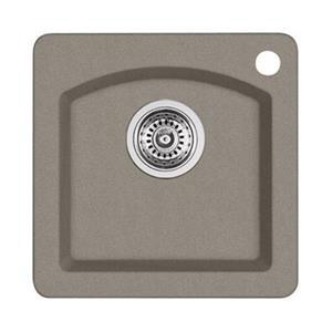 Blanco Diamond Mini 15-in x 15-in x 8-in Truffle Silgranit Single Bowl Kitchen Sink