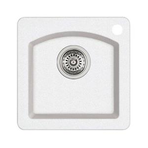 Blanco Diamond Mini 15-in x 15-in x 8-in White Silgranit Single Bowl Kitchen Sink
