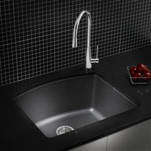 Blanco Diamond 20.75-in x 24-in Anthracite Silgranit Kitchen Sink