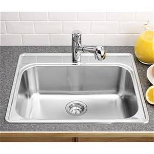 Blanco Essential 20.75-in x 25-in Stainless Steel Single Bowl Drop-in Kitchen Sink