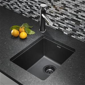 Blanco Precis 13.75-in x 18-in Anthracite Silgranit Undermount Sink