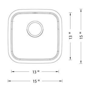 Blanco Stellar 15-in x 15-in Stainless Steel Single Bowl Undermount Sink