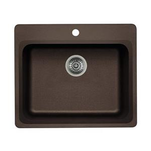 Blanco Vision 25.00-in x 20.75-in x 8-in Cafe Silgranit Drop-in Sink