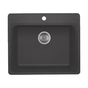 Blanco Vision 25.00-in x 20.75-in x 8-in Cinder Silgranit Drop-in Sink