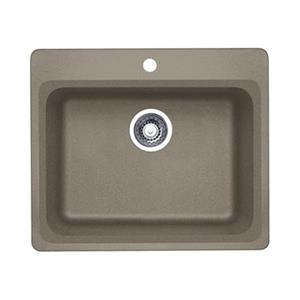 Blanco Vision 25.00-in x 20.75-in x 8-in Truffle Silgranit Drop-in Sink