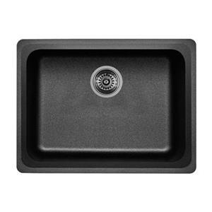 Blanco Vision Silgranit Anthracite 18-in x 24-in Undermount Sink