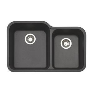 Blanco Vision Cinder 19.75-in x 30.5-in Silgranit Double Bowl Undermount Sink