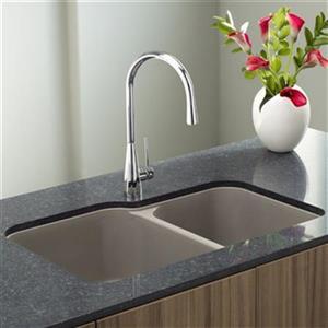 Blanco Vision Silgranit Truffle Double Bowl Undermount Sink