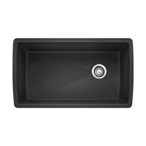 Blanco Gray 18.5-in x 33.5-in Diamond Super Single Sink