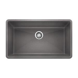 Blanco Precis Gray 19-in x 32-in Super Single Sink