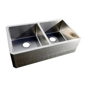Acri-tec Apron 18-in x 31.50-in Mount Double Basin Kitchen Sink