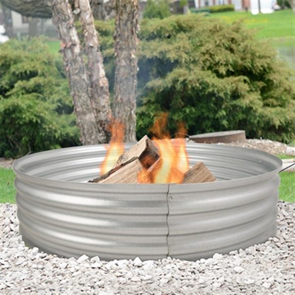 Pleasant Hearth Infinity Galvanized Fire Ring 36 In Lowe S Canada