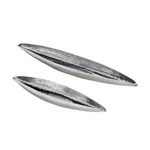 Home Gear Silver Citadel Boat Set Of 2