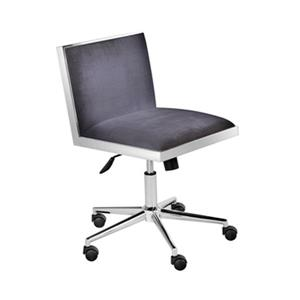 Home Gear Castle Charcoal Office Chair (Set of 2)
