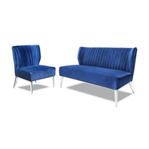 Home Gear Blue Luca Settee And Chair Set