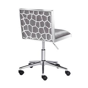 Home Gear Wellington Grey Velvet Office Chair