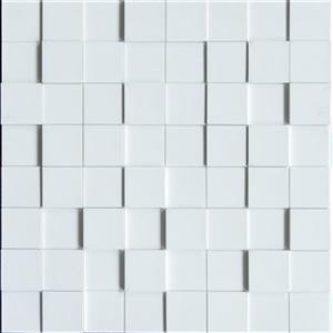 Retro Art Ledge Stone Snow White Harmony Cubes 3D Wall Panels