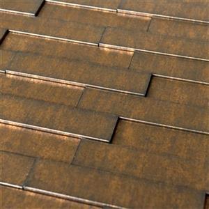 Retro Art Ledge Stone Gold Thread Piano Steps 3D Wall Panels