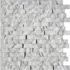 Retro Art Ledge Stone Crystal White 3D Wall panels