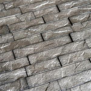 Retro Art Ledge Stone Sparkled Grey 3D Wall Panels