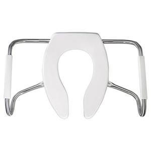 Bemis Elongated Medic-Aid® Safety White Plastic Toilet Seat