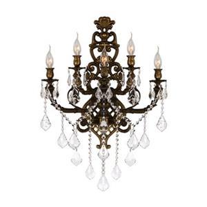Worldwide Lighting Versailles Collection Antique Bronze 5-Light Wall Sconce