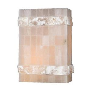 Worldwide Lighting Pompeii Collection Flemish Brass Natural Quartz Single Light Wall Sconce