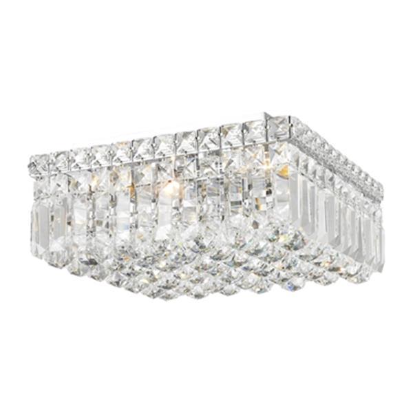 Worldwide Lighting Cascade Square Crystal Flush Mount Ceiling Light Lowe S Canada