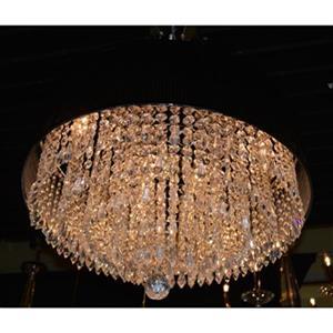 Worldwide Lighting Gatsby 8-Light Polished Chrome Large Pendant Light