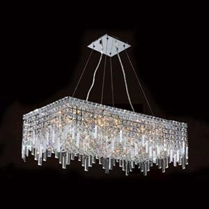 Worldwide Lighting Cascade 16-Light Crystal Island Light