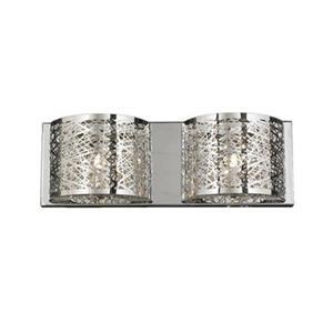 Worldwide Lighting W23143C20 Aramis 2-Light Wall Sconce,W231