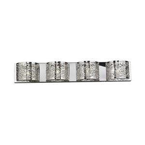Worldwide Lighting Aramis Collection Polished Chrome 4-Light Wall Sconce