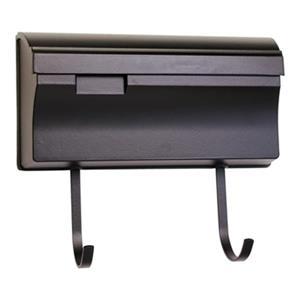 SNOC Essentials Accessories Black Horizontal Mailbox with Hooks
