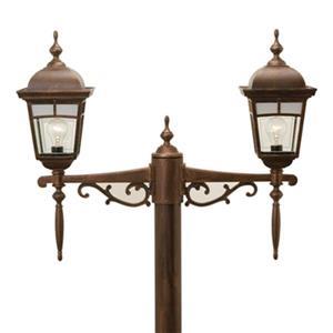 SNOC Imagine 25-in Antique Copper Aluminum 2 Light Post Mounted Multihead Outdoor Light
