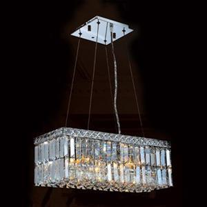 Worldwide Lighting Cascade 4-Light Rectangular Crystal Island Light