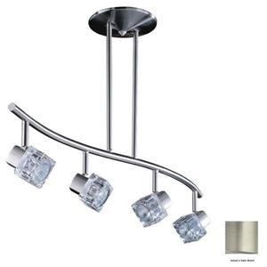 4-Light Directional Spot Track Lighting Kit