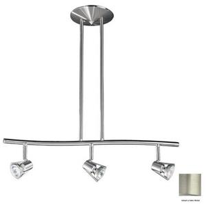 Kendal Lighting 3 Light 24.5-in Satin Nickel Dimmable Standard Linear Track Lighting Kit